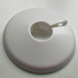White Plastic 15mm Wall Flange Pipe Collar - Pack of 2 - 30000385